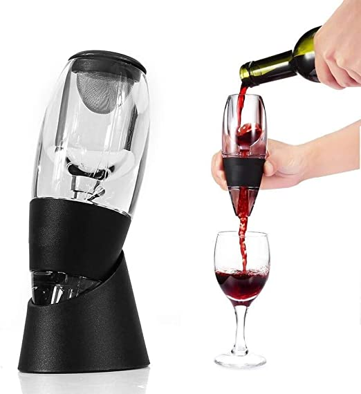Wine Accessories Decanter NOTTODAY Wine Aerator Pourer Premium Aerating Pourer Black
