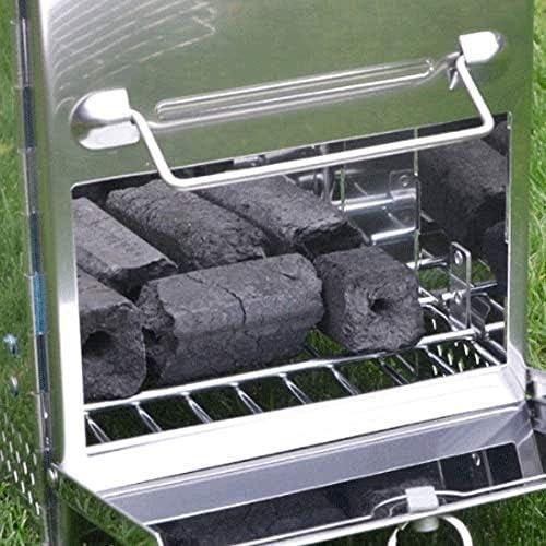 Barbecue HZY Barrel en Acier Inoxydable Grill, Pliant Charbon Portable, Camping en Plein air, 20cm * 20cm * 27cm