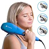 TheraFlow Handheld Deep Tissue Percussion Massager. Muscles, Back, Body, Foot, Neck, Shoulder, Scalp & Head. Trigger Point Pain Relief & Relaxation. Attachments for Acupoint, Shiatsu & Kneading. Gift