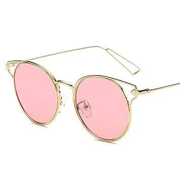 Sabarry Retro Gafas de Sol Redondas Gafas de Sol polarizadas Hombre Mujer Rosa Rosa Talla única
