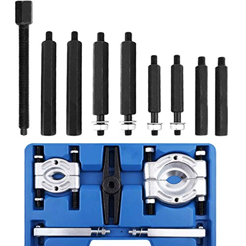Rusilay 14pc Double Disc Bearing Puller Inner And Outer Diameter Gearbox Special Chassis Auto Repair Tool Bearing Puller Separator Set 2''& 3''Splitters Long Jaw Gear Bearings Kit, Heavy Duty ()