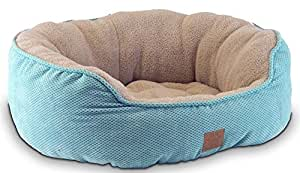 Precision Pet SnooZZy Mod Chic Daydreamer Bed,21 by 19 by 9.5-Inch, Ocean Wave Aqua