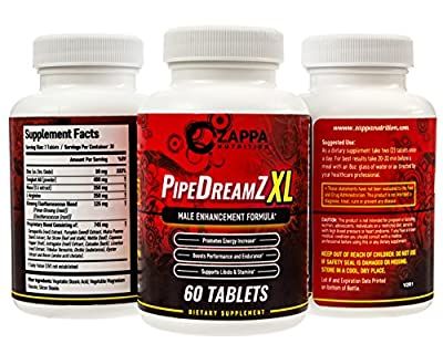 Male Enhancement Pills Natural - Testosterone Booster, Larger Penis, Thicker Enlargement Formula, Best Sexual Control, For Huge Man, Yohimbe Energy Endurance Control Zappa Nutrition PipeDreamZ XL
