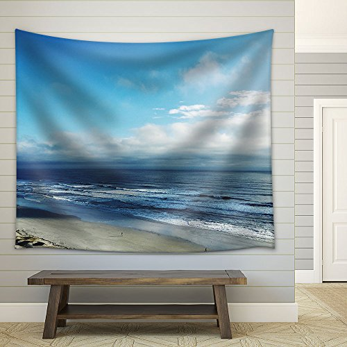 Top View Seashore Fabric Wall