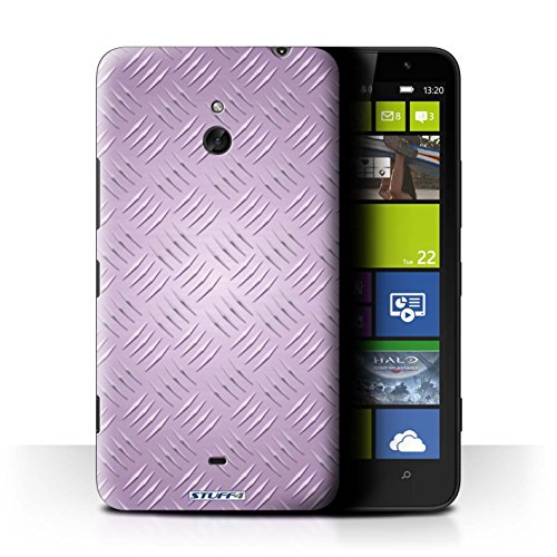 Coque de Stuff4 / Coque pour Nokia Lumia 1320 / Rose Design / Motif en Métal en Relief Collection