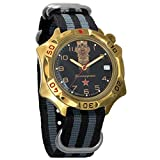 Vostok Komandirskie Double-Headed Eagle Mechanical Mens Military Wrist Watch #539792 (Black+Grey)