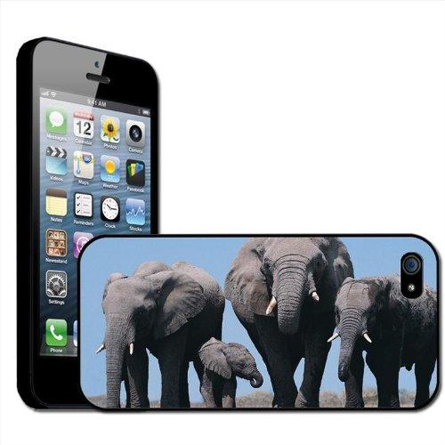 Fancy A Snuggle Schutzhülle, Hard Case für Apple iPhone 5, Motiv Elefant, zum Anklippen