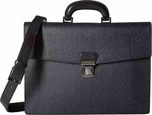 Salvatore Ferragamo Men's Revival 3.0 Single Gusset Briefcase - 24A050