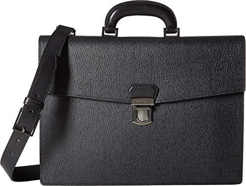 Salvatore Ferragamo Men's Revival 3.0 Single Gusset Briefcase - 24A050 Black One Size