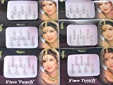 14 Bindis 2 Packs Of Silver Long Face Jewels Bollywood Bindis/Indian India Bindis/Bindi Sticker/Bindi Jewels/Face Jewels/Fancy Bindi Online/Silver bindi