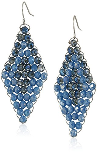 Faceted Blue Glass Ring (Kenneth Cole New York Woven Blue Faceted Bead Drop)