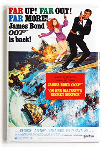 On Her Majesty's Secret Service Movie Poster Fridge Magnet (2 x 3 inches)