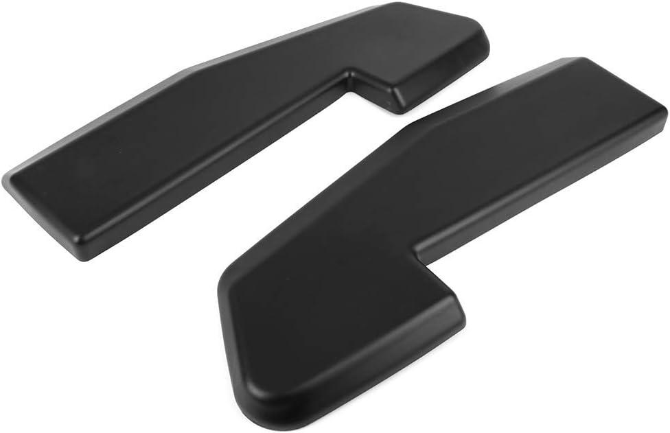 Rear Bumper Lip Universal Fitment V1 Style PP 2Pc Set Matte Black With 8 Screws Rear Lip Spoiler Splitter Bodykit By IKON MOTORSPORTS