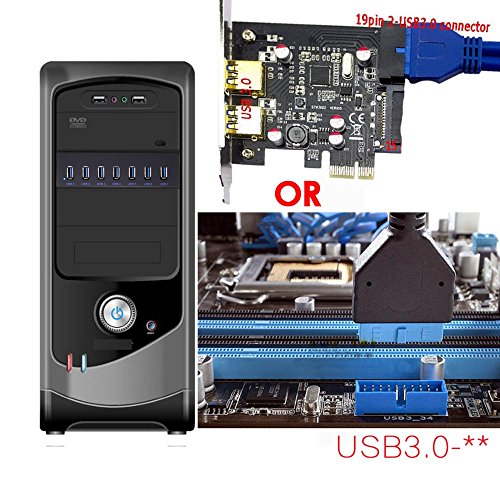 XinYS USB 3.0 7-Ports 5.25 inch Metal Front Panel USB Hub with 15 Pin SATA Power Connector [ 20 Pin Connector & 2ft Adapter Cable] by xinyuansu (Image #7)
