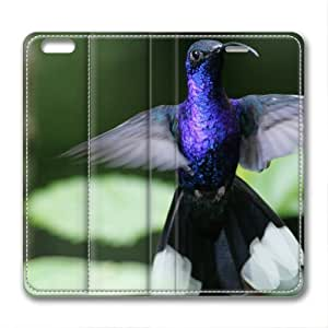 Beautiful Flying Hummingbird Bird Animal Leather Cover for iPhone 6 by Cases & Mousepads