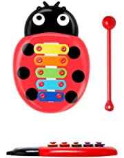 Carsge Kids Ladybird Knock On Piano Keyboard Early Education Musical Instrument Toy Pianos Keyboards