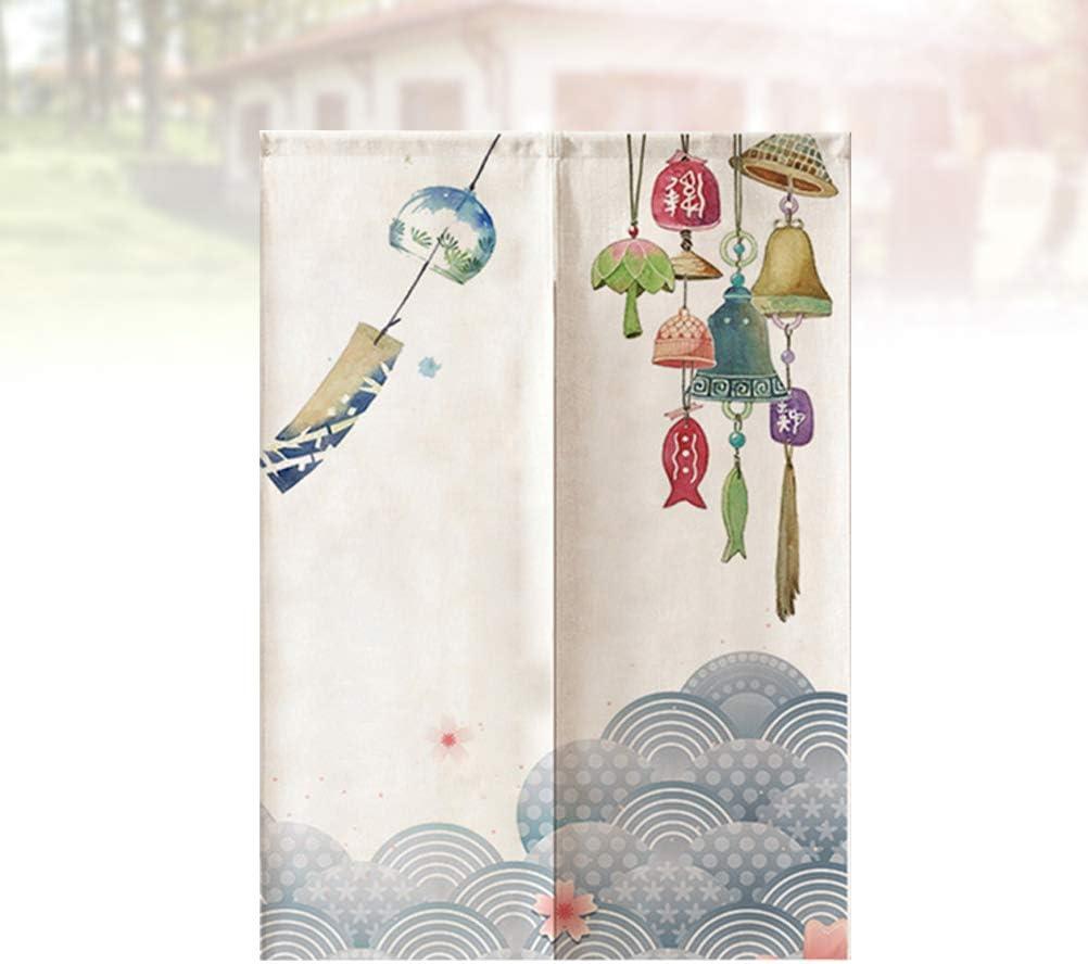 65 * 90cm VOSAREA Tenda per Porte Giappone Noren Tenda a Muro Tapestry Tende Divisorio Tenda divisoria Riutilizzabile Tenda Antivento Traspirante