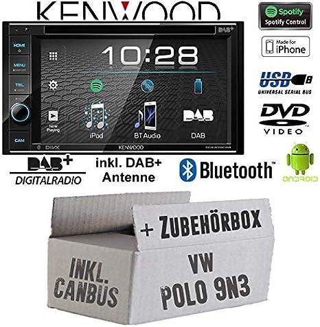 Radio de coche Kenwood DDX4019DAB para Volkswagen Polo 9N3 2 ...