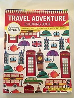 Michaels Travel Adventure Coloring Book Original Art Coloring Tip