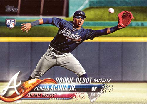 2018 Topps Update Baseball #US252 Ronald Acuna Jr. Rookie Debut Card