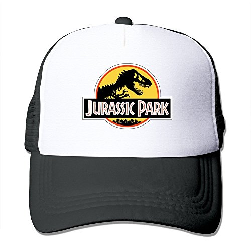Printing Adult Unisex Jurassic Park Logo Red Yellow White 100% Nylon Mesh Caps One Size Fits Most Adjustable Baseball Hat (Tasha Hat)