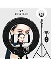 GVM Photo Studio LED Ring Light with Light Stand Kit 18-inch 3200-5600K CRI 96+ Dimmable Bi-Color SMD LED Lighting for Portrait Video Shooting …