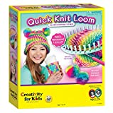 Creativity for Kids Quick Knit Loom - Make Your Own Pom Pom Hat And Accessories For Beginners (Packaging May Vary): more info