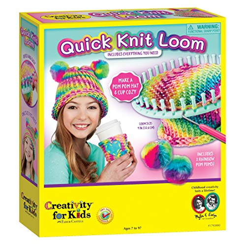 Creativity for Kids Quick Knit Loom - Make Your Own Pom Pom Hat And Accessories For Beginners (Packaging May Vary)