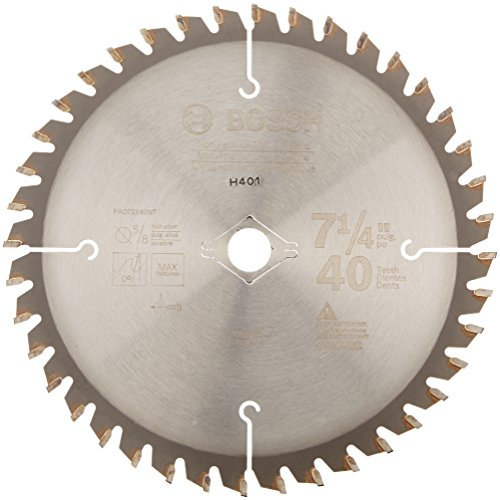 Bosch PRO72540NF Professional Series 7-1/4-Inch 40 Tooth Non-Ferrous Metal and Plastic Cutting Saw Blade with 5/8-Inch and Diamond Knockout Arbor
