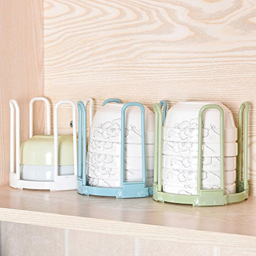AMA (TM) Cup Bowl Dish Drainer Holder Organizer Dish Drying Rack Plastic Kitchen Plate Grids Drainer Colanders Storage Frame (Blue)