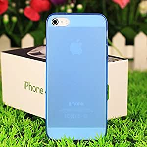 Buy Simple Design Solid Color Transparent Back Case for iPhone 5/5s(Assorted Color) , White