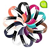 Baaletc Silicone Rubber Replacement Accessory Band/Wristband Bracelet Strap with Buckle for Fitbit Alta HR Fitness Tracker