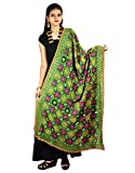 Indian Dupatta Long Scarf Phulkari Embroidered Georgette Fabric Hijab Neck Wrap Stole For Women