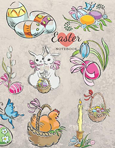 - Easter Notebook: Egg Bunny Journal gifts for Kids ; Happy Easter Children Sketchbook for Drawing; Sketch pencil Draw and Paint; Eggs Rabbit Chicken ... A4 Large 8.5 x 11''; Childrens books Ages 3+