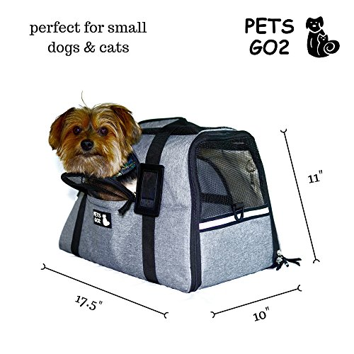 - Pet Carrier for Small Dogs & Cats - Airline Approved Premium Soft Animal Carriers - Portable Soft-Sided Air Travel Bag with Two Mats - Best Tote for Small Dog and Cat - Fits Under Front Airplane Seat