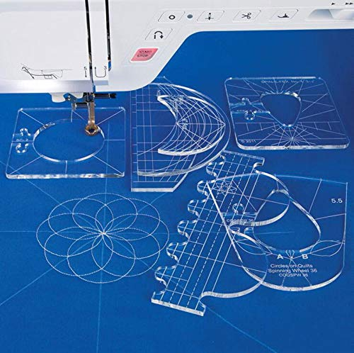5.6mm Quilting Template for HQ Long arm Quilting Machine and high Shank Sewing Machine janome Brother (Hq Machine Quilting Arm Long)