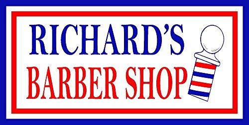 "Your Name Custom Barber Shop Hair Salon Man Cave Garage 6"" x"