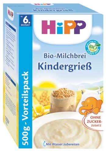 Hipp leche de avena orgánica infantil de sémola, 6-pack (6 x 500g