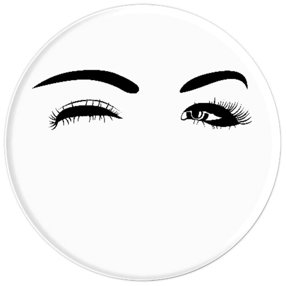Amazon.com: Perfect Eye Brows And Eye Lashes Black And White - PopSockets Grip and Stand for Phones and Tablets: Cell Phones & Accessories