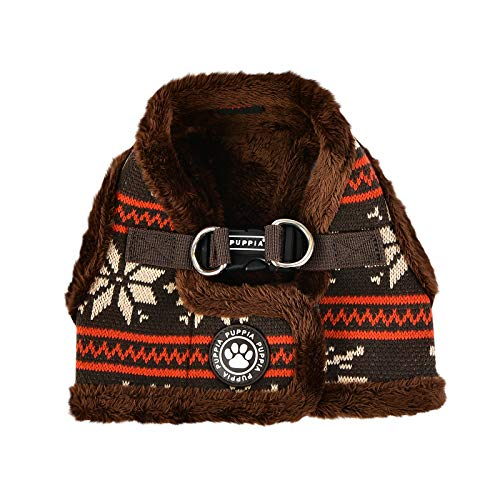 Puppia Prancer Vest Harness B (Medium, Brown)