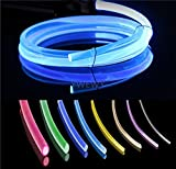 3.28ft PMMA Plastic Optic Fiber Side Glow Cable for LED Light Source (0.12in)