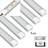 5PCs Pack 4Ft Aluminum Extrusion U Channel Housing for LED Strip Light #20307