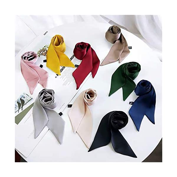 Stylish Soft Scarf Ribbon Scarf Long Skinny Satin Belt Sash Necktie Neck Scarf Choker for Women