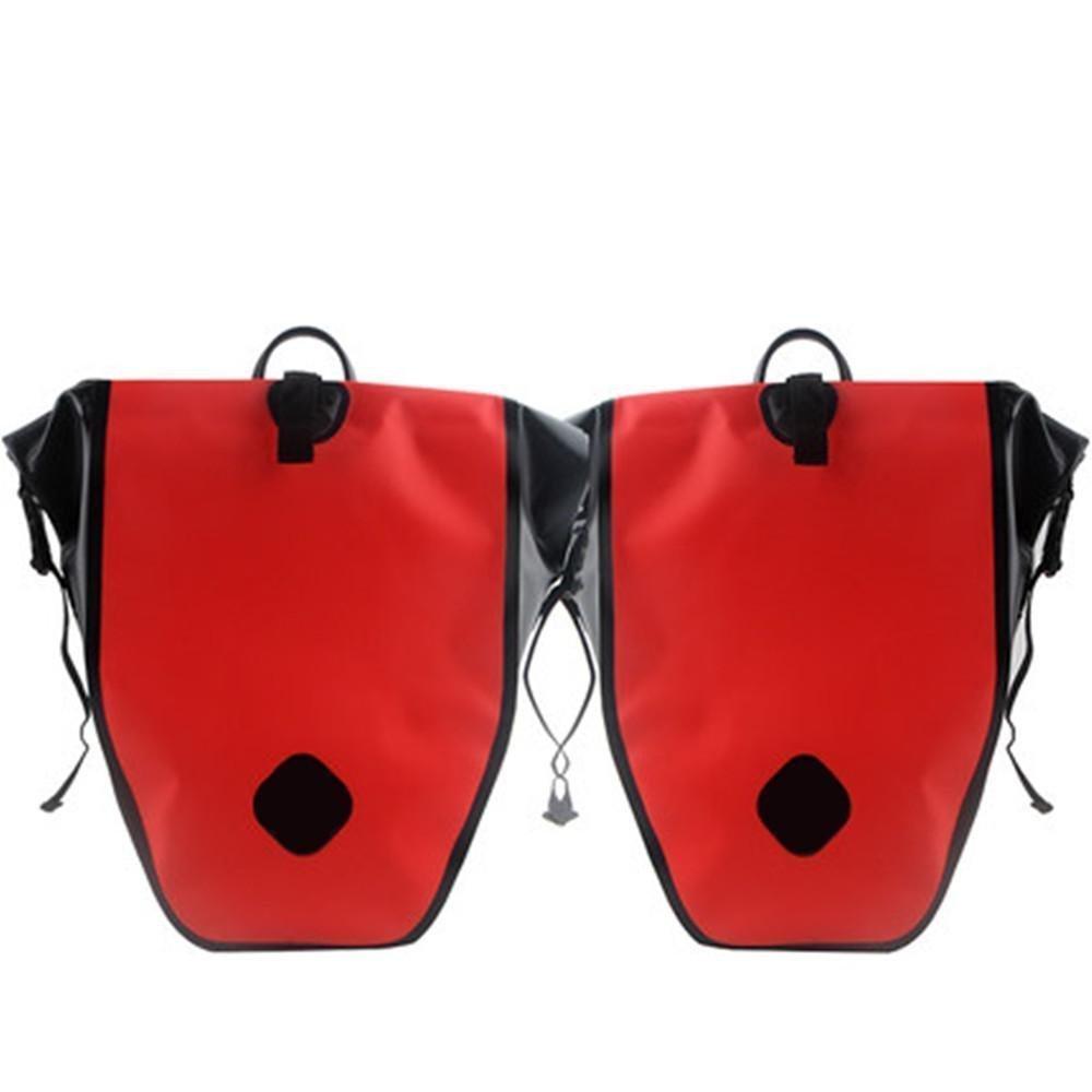 Fahrrad-Doppeltaschen PVC-wasserdichter Nylongriff mit hoher Kapazität 50L
