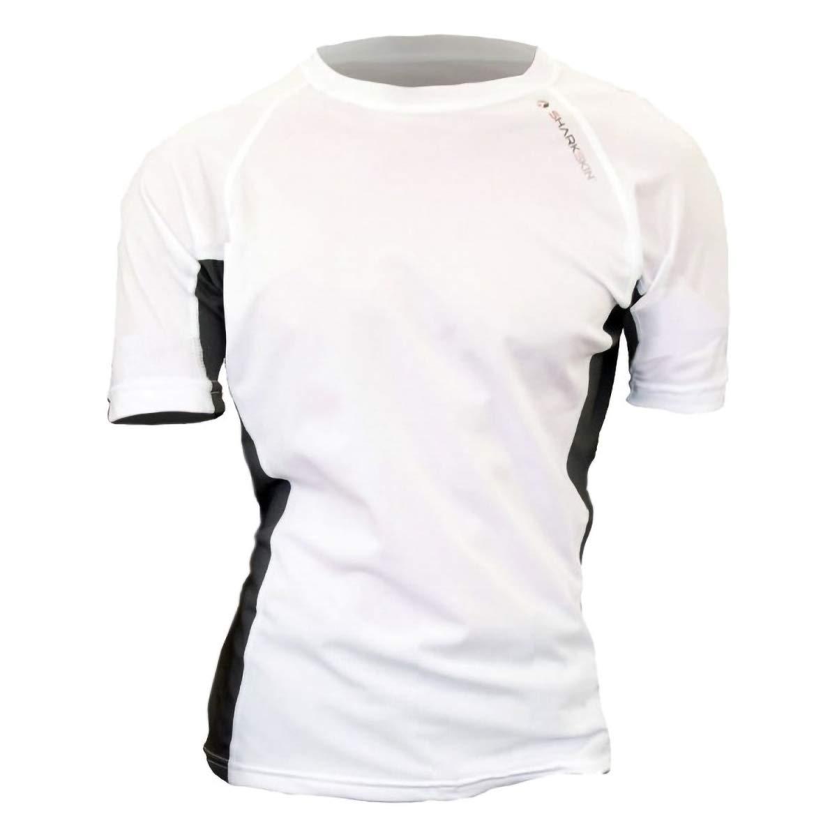 Sharkskin Rapid Dry Short Sleeve Shirt, White, Medium by Sharkskin