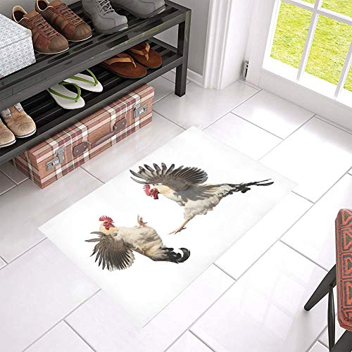- SGFDH Farm Cockfighting Welcome Cleaner Doormat for Home and Business Indoors and Outdoors Dirt Trapper Door Mat Non-Slip Entrance Rug Carpet 23.6