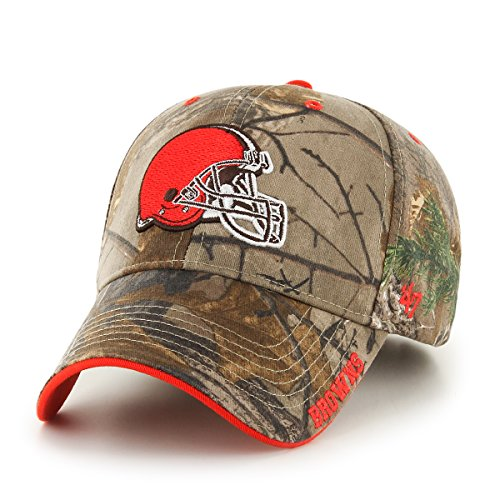 a0e7c97a77c Cleveland Browns Camouflage Caps. NFL Cleveland Browns  47 Frost MVP Camo Adjustable  Hat
