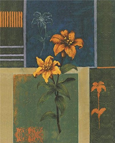 Yellow Depression Glass Patterns - Oil Painting 'Yellow Lilies', 16 x 20 inch / 41 x 51 cm , on High Definition HD canvas prints is for Gifts And Dining Room, Hallway And Home Office Decoration, pictures cheap