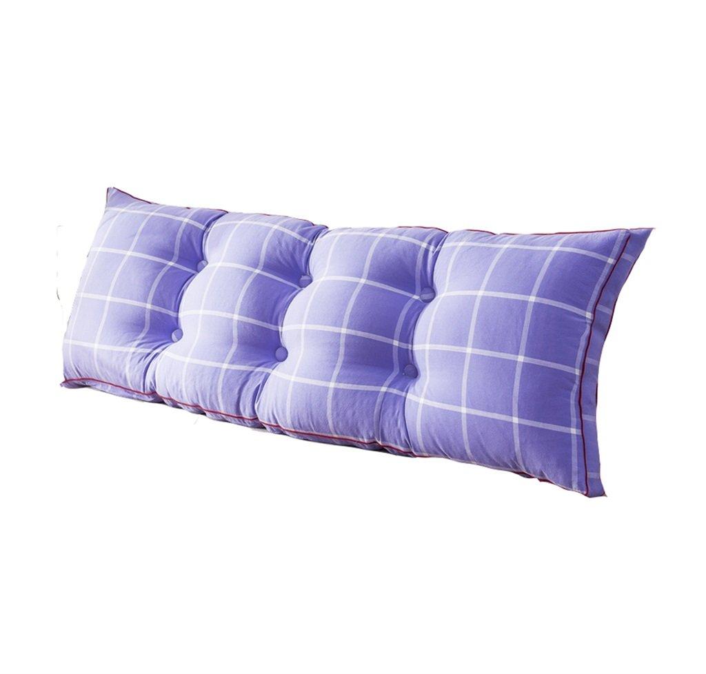 ベッドサイド厚いクッション三角枕とソファソフトバッグ長い背もたれ取り外し可能で洗濯可能なダブルプロテクションウエストクッション枕を読む (色 : Purple, サイズ さいず : 200 * 50 * 20cm) B07DK8W8TP  Purple 200*50*20cm