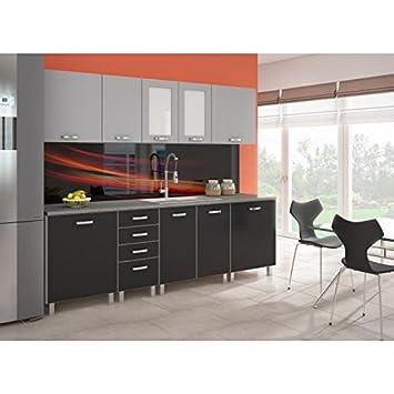 Platinum Cuisine Complete Aluminium Et Noir Amazon Fr Cuisine Maison